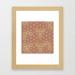 Hexagonal Dreams - Tangerine and Orange Framed Art Print