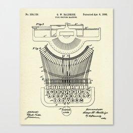 Type Writing Machine-1886 Canvas Print