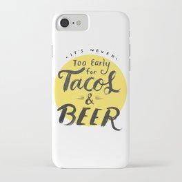 Tacos & Beer iPhone Case