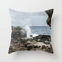 Blowhole Throw Pillow
