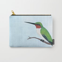 the studious male (ruby-throated hummingbird) Carry-All Pouch