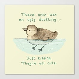 Ugly Duckling Canvas Print