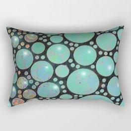 Aqua Green Jade Sphere Abstract Fantasy I Rectangular Pillow