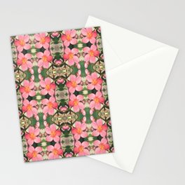 Pink Flower Pattern Stationery Cards