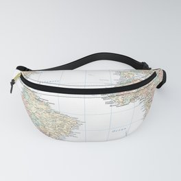 Clear World Map Fanny Pack