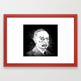 30. Zombie Calvin Coolidge Framed Art Print