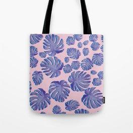 Monstera pink Tote Bag