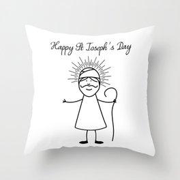 Happy Saint Joseph's Day Throw Pillow