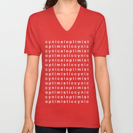 Cynic(al) Optimist(ic) - WHITE Unisex V-Neck