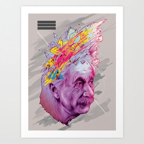 Mr. Einstein Art Print