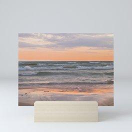Peachy Keen Sunset Scene Mini Art Print