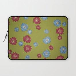 Scribble Flower Pattern Design - Wild Veda Laptop Sleeve