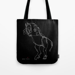 Horse (Prancing in Black) Tote Bag