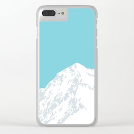 Snow Capped Mountain Clear iPhone Case