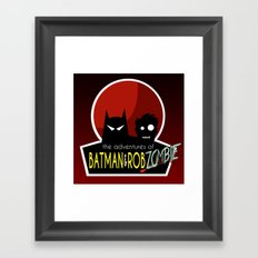 The Adventures of Bat man and Rob Zombie Framed Art Print