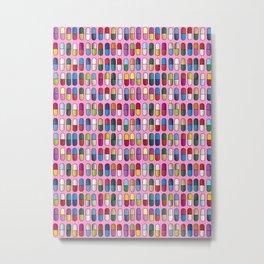 Colorful Pills Metal Print