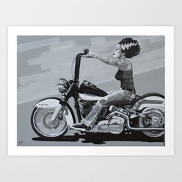 Mike Bell: Of Gals & Monsters Art Print