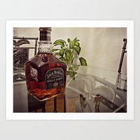 jack daniels Art Prints featuring Jack Daniels by Orlando Gurrola