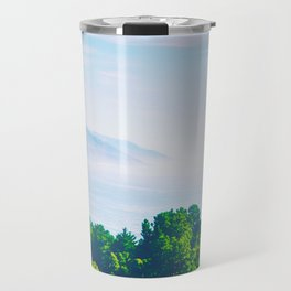 Beautiful ocean view with forest front view at Big Sur, California, USA Travel Mug