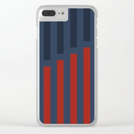 Vertically Red and Blue Clear iPhone Case