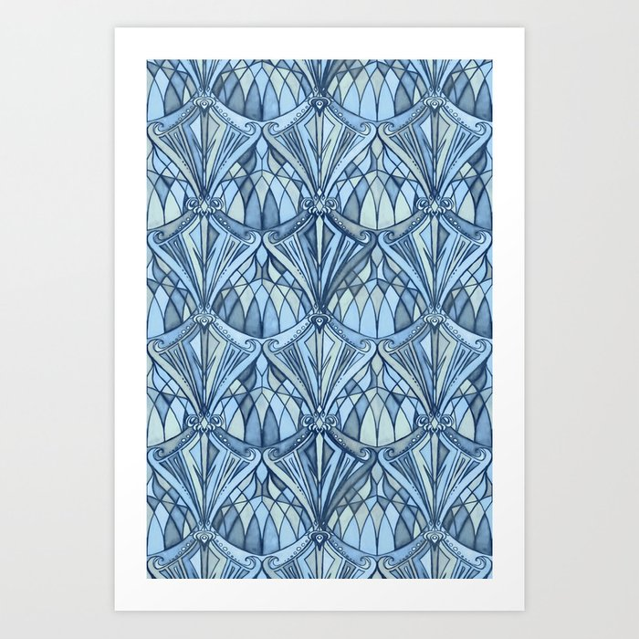 View From a Blue Window Art Print