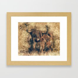 Highland Bull Art Framed Art Print