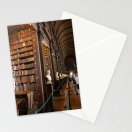 The Long Room of Trinity College Library in Dublin, Ireland Stationery Cards
