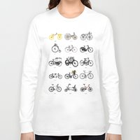 bicycles Long Sleeve T-shirts featuring Bicycles by MuDesignbyMugeBaris