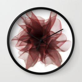 Red bow flower Wall Clock