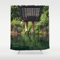 depeche mode Shower Curtains featuring relax mode by gzm_guvenc