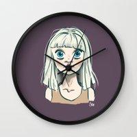chandelier Wall Clocks featuring Chandelier by Jessi's Art