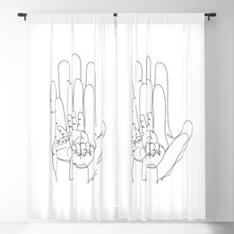 Family Hands One Line V Blackout Curtain