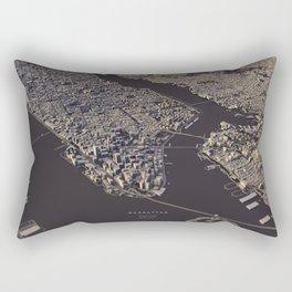 Manhatten city map II Rectangular Pillow