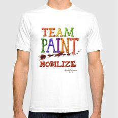 TEAM PAINT MOBILIZE MEDIUM White Mens Fitted Tee