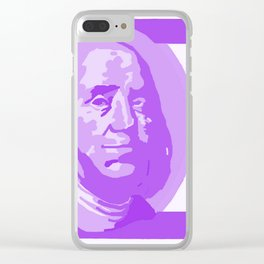 BIG PURPLE 100 DOLLAR BILL BEN FRANKLIN $$$ Clear iPhone Case