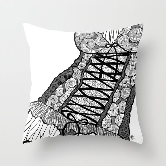 La femme n.5 Throw Pillow