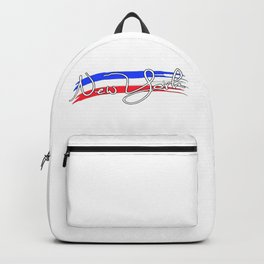 New York with the colors of american flag - Vector Backpack