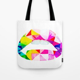 Labios geometricos Tote Bag