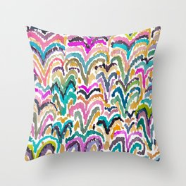 Sprouting Abstract Floral Throw Pillow