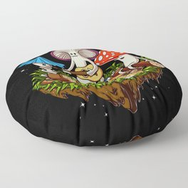 Magic Mushrooms Hippie Fungi Floor Pillow