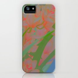 pinky flowers iPhone Case