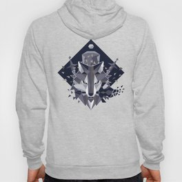Sif the Great Grey Wolf Hoody