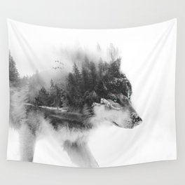 Wolf Stalking Wall Tapestry