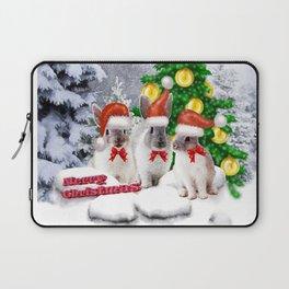 Schneehasen wünschen: frohe Weihnachten Laptop Sleeve