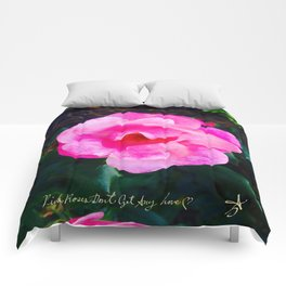 Pink Roses Don't Get Any Love - Pink Rose Comforters
