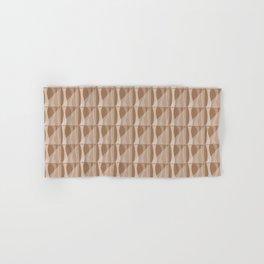 Simple Geometric Pattern 2 in Cinnamon Spice Hand & Bath Towel