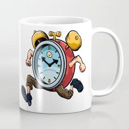Clock Man Running Coffee Mug