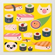 Kawaii sushi sushi Canvas Print