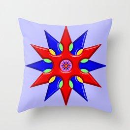 Shuriken Lotus Flower Throw Pillow