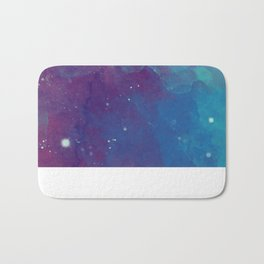 Watercolor night sky Bath Mat